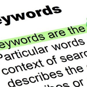 The choice of keywords